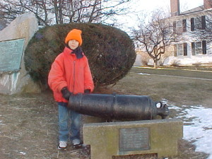 "The cannon that the British fired at Sandy Bay was captured by the townsfolk and is still displayed on the lawn of the ""Old Sloop"" church."