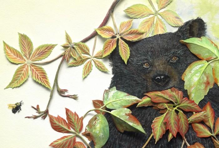 leaflets poison ivy bear