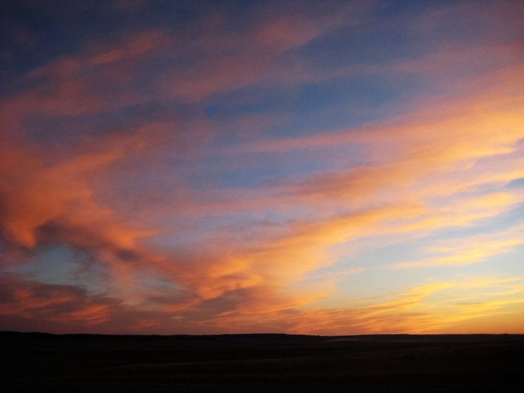 grasslands sunset