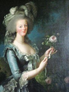 marie antoinette portrait with rose
